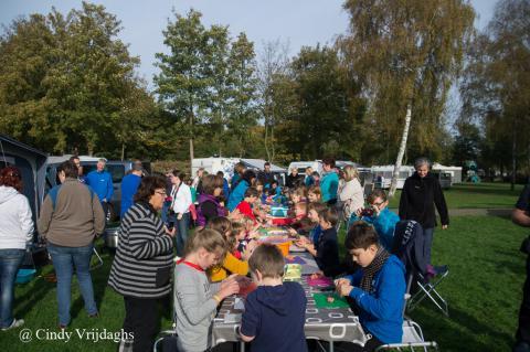 Foto activiteit herfstkamp